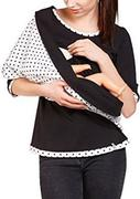 Polka Dot Printed Multi-way Sweatshirt